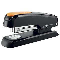 """Степлер MAPED (Франция) """"Essentials Desk"""", №24/6-26/6, до 25 листов, пластиковый, черный/оранжевый"""