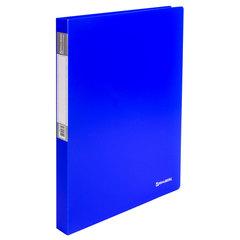 """Папка на 2 кольцах c внутренним карманом BRAUBERG """"Neon"""", 25 мм, неоновая, синяя, до 170 листов, 0,7 мм"""