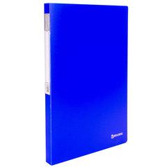 """Папка с металлическим скоросшивателем и внутренним карманом BRAUBERG """"Neon"""", 16 мм, синяя, до 100 листов, 0,7 мм"""