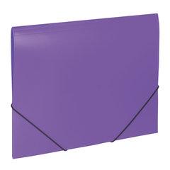 """Папка на резинках BRAUBERG """"Office"""", фиолетовая, до 300 листов, 500 мкм, 228081"""