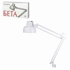 """Светильник настольный """"Бета"""", на струбцине, лампа накаливания/люминесцентная/светодиодная до 60 Вт, белый, высота 70 см, Е27"""