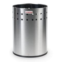 """Корзина металлическая для мусора ЛАЙМА """"Bionic"""", 7 л, матовая, перфорированная, несгораемая"""