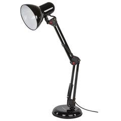 Светильник настольный SONNEN TL-007, на подставке + струбцина, 40 Вт, Е27, черный, высота 60 см, 235540