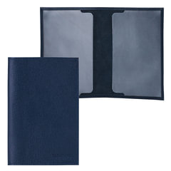 """Обложка для паспорта FABULA """"Largo"""", натуральная кожа, тиснение """"Passport"""", синяя"""