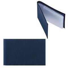 """Визитница карманная FABULA """"Largo"""" на 40 визиток, натуральная кожа, синяя"""