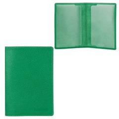 """Обложка для паспорта FABULA """"Every day"""", натуральная кожа, тиснение """"Passport"""", зеленая"""