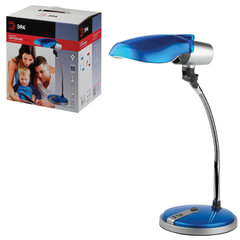 Светильник настольный ЭРА NE-301, на подставке, для люминесцентной или светодиодной лампы, синий, E27