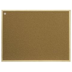 """Доска пробковая 100x200 см, коричневая рамка из МДФ, OFFICE, """"2х3"""" (Польша)"""