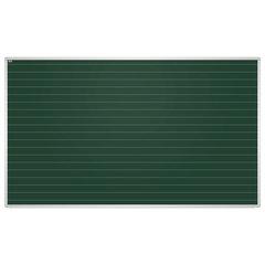 """Доска для мела магнитная, 85x100 см, зеленая, в линию, алюминиевая рамка, EDUCATION """"2х3""""(Польша), TKU8510L"""