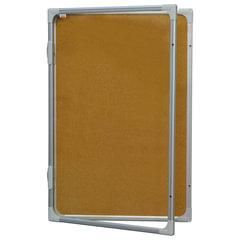 """Доска-витрина пробковая, 120x90 см, алюминиевая рамка, OFFICE, """"2х3"""" (Польша)"""