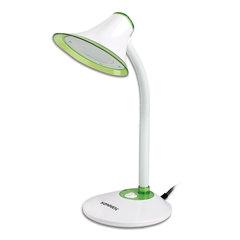 Светильник настольный SONNEN OU-608, на подставке, светодиодный, 5 Вт, белый/зеленый