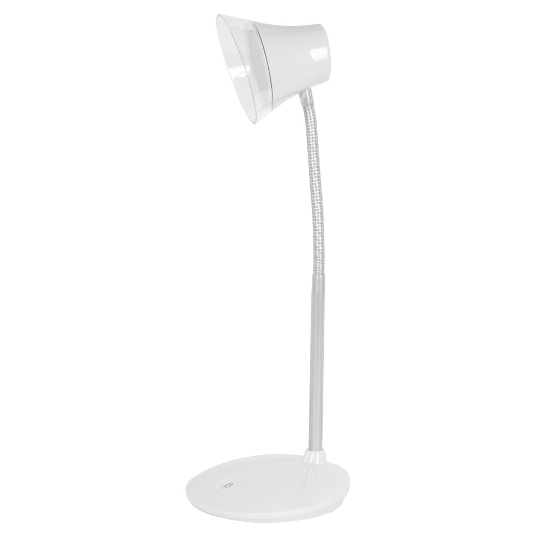 Светильник настольный SONNEN PH-329, на подставке, СВЕТОДИОДНЫЙ, 6 Вт, АККУМУЛЯТОР, зарядка от USB, белый, 236695
