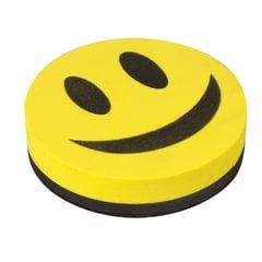 """Стиратель магнитный для магнитно-маркерной доски, круглый, диаметр 90 мм, """"Смайлик"""", STAFF, 236751"""