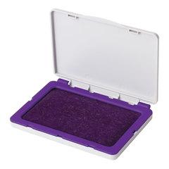 Штемпельная подушка BRAUBERG, 120х90 мм (рабочая поверхность 110х70 мм), фиолетовая краска