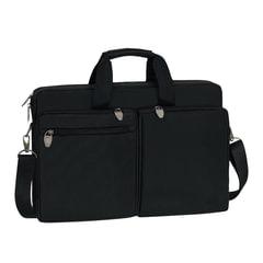 """Сумка деловая RIVACASE 8550 black, отделение для планшета и ноутбука 17,3"""", ткань, черная, 44x30x9 см"""
