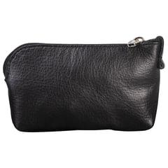 """Футляр для ключей FABULA """"Estet"""", натуральная кожа, на молнии, 75x125x25 мм, черный, KL16.MN"""