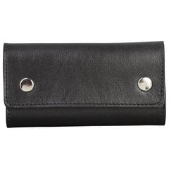 """Футляр для ключей FABULA """"Estet"""", натуральная кожа, на кнопках, 60x110x25 мм, черный, KL44.MN"""