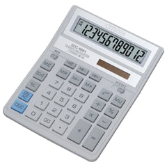 Калькулятор настольный CITIZEN SDC-888ХWH (203х158 мм), 12 разрядов, двойное питание, СЕРЫЙ