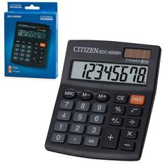 Калькулятор CITIZEN настольный SDC-805BN, 8 разрядов, двойное питание, 125x102 мм