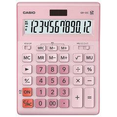 Калькулятор CASIO настольный GR-12С-PK, 12 разрядов, двойное питание, 210х155 мм, розовый