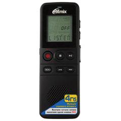 Диктофон цифровой RITMIX RR-810, память 4 Gb, запись до 291 ч., битрейт до 384 кбит/с