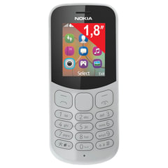 """Телефон мобильный NOKIA 130 DS, TA-1017, 2 SIM, 1,8"""", MicroSD, 0,3 Мп, серый"""