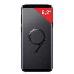 "Смартфон SAMSUNG Galaxy S9+, 2 SIM, 6,2"", 4G (LTE), 8/12 + 12 Мп, 64 ГБ, microSD, черный бриллиант, м/стекло"