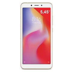 "Смартфон XIAOMI Redmi 6A, 2 SIM, 5,45"", 4G (LTE), 5/13 Мп, 16 Гб, золотой, пластик"