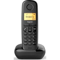 Радиотелефон GIGASET A170, память 50 номеров, АОН, повтор, часы, черный