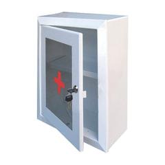 Шкафчик-аптечка металлический, навесной, 1 полка, ключевой замок, стекло, 330x280x140 мм