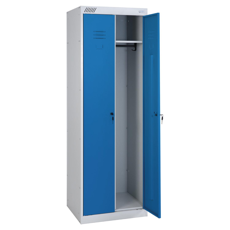 Шкаф металлический для одежды ШРК-22-600, двухсекционный, 1850х600х500 мм, 30 кг, разборный