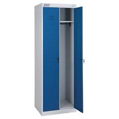 Шкаф металлический для одежды ШРК-22-800, двухсекционный, 1850х800х500 мм, 34 кг, разборный