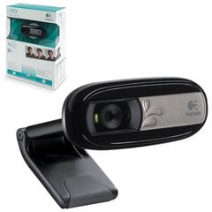 Веб-камера LOGITECH C170, 0,3 Мпикс., микрофон, USB 2.0, регулируемое крепление, черная