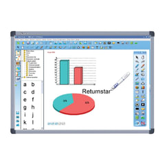 """Интерактивная доска 82"""" IQBOARD DVT T082, оптическая, 162х117 см, 4:3, USB, 2 пользователя"""