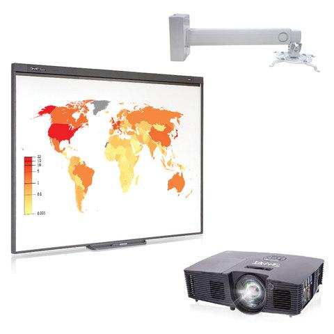 Интерактивный комплект SMART SB480v10: доска SB480, проектор V10, кронштейн DSM-14Kw