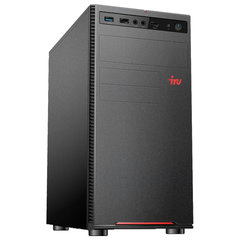 Системный блок IRU 312MT INTEL Pentium G5400, 3,7 ГГц, 4 ГБ, SSD, 240 ГБ, Windows 10 PRO, черный
