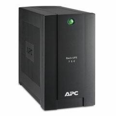 Источник бесперебойного питания APC Back-UPS BC750-RS, 750 VA (415 W), 4 розетки CEE 7, черный