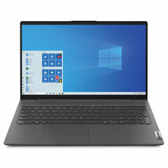 "Ноутбук LENOVO IdeaPad IP5 15.6"" AMD Ryzen 3 4300U 2.7 ГГц, 8 ГБ, SSD, 256 ГБ, NO DVD, Windows 10, серый"