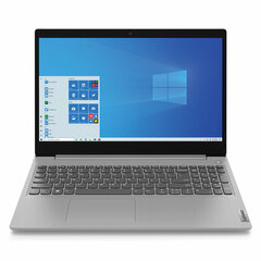 "Ноутбук LENOVO IdeaPad IP3 15.6"" INTEL Core i3-1035G1 1.2 ГГц, 4 ГБ, SSD 512 ГБ, NO DVD, Windows 10, серый"