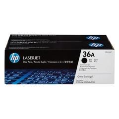 Картридж лазерный HP (CB436AF) LaserJet P1505/M1120/M1522, №36А, КОМПЛЕКТ 2 шт., оригинальный, ресурс 2х2000 страниц