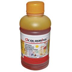 Чернила COLOURING для CANON /EPSON /HP /LEXMARK универсальные, желтые, 0,25 л, водные
