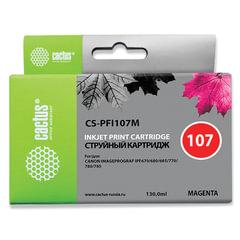 Картридж струйный CACTUS (CS-PFI107M) для CANON PF680/685/780/785, пурпурный, 130 мл