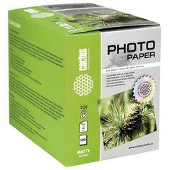 Фотобумага для струйной печати 10x15см, 230 г/м2, 500 листов, односторонняя матовая, CACTUS, CS-MA6230500