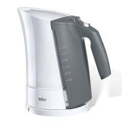 Чайник BRAUN WK-300, закрытый нагревательный элемент, объем 1,7 л, мощность 2200 Вт, индикатор уровня воды, белый