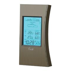 Метеостанция EA2 ED 608, термодатчик, часы, будильник, календарь, барометр, черная