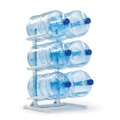 Стеллаж для хранения воды AEL, Россия, для 6 бутылей, металл, белый