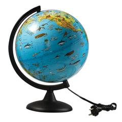 Глобус зоогеографический, диаметр 250 мм, с подсветкой