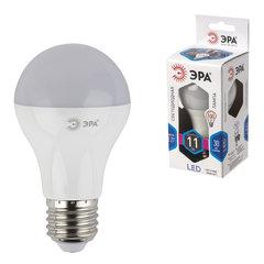 Лампа светодиодная ЭРА, 11 (100) Вт, цоколь E27, грушевидная, холодный белый свет, 30000 ч., LED smdA60-10w-840-E27