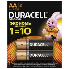 Батарейки DURACELL Basic, AA (LR06, 15А), алкалиновые, КОМПЛЕКТ 2 шт., в блистере (отрывной блок)