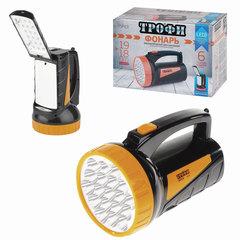 Фонарь-прожектор светодиодный ТРОФИ TSP19, 19 х LED + 18 x LED, 2 режима, аккумуляторный, заряд от 220 V
